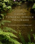 Sample Funeral Programs, funeral services, scattering of ashes ceremony