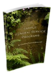 Sample funeral service programs