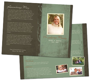 Funeral program templates