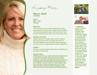 Funeral Program Template 3 - Inside 2 pages
