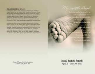 Funeral Program Template 7 - Back and Front Covers