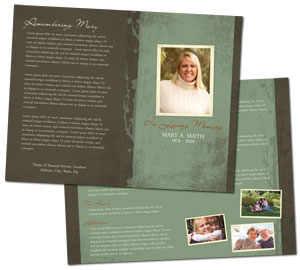 How to write a funeral program for Funeral handouts template
