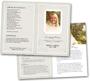 obituary program