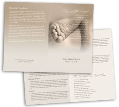 Planning a Funeral For A Baby – Child Funeral Program Template