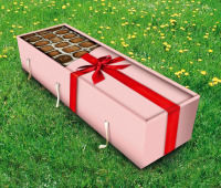 chocolate grass coffin