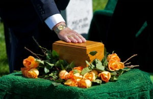 Image result for memorial service with urn