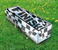 finish flag coffin
