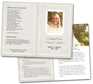 Sample funeral service programs for Funeral handouts template