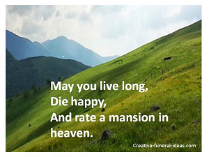 Irish blessing for death