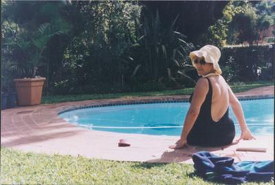 Leisha loved to swim