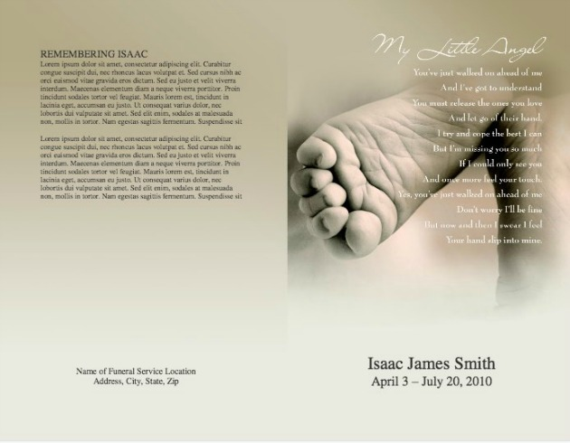 Child Funeral Template 7   Back And Front Covers