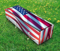 usa flag coffin