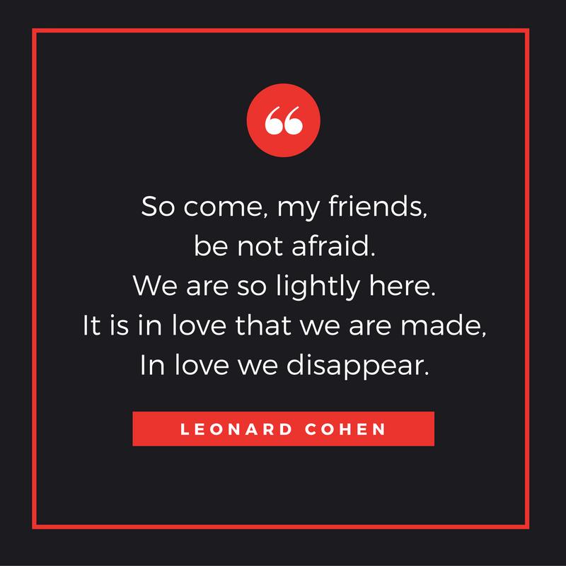 Leonard Cohen funeral quote