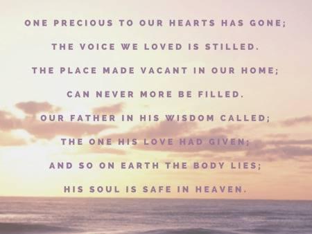Funeral Poems for Husbands
