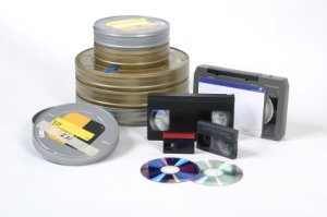 Video Cds, cassettes and tapes