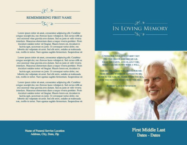 Funeral Service Bulletin 10 - Back and Front Covers