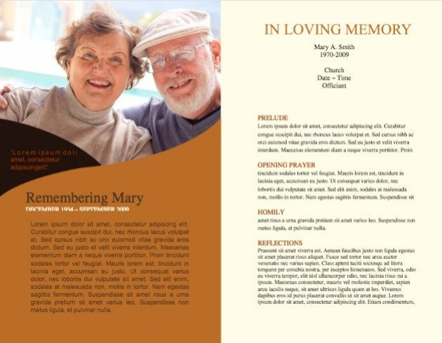 Funeral Program Template 2 - Inside 2 pages