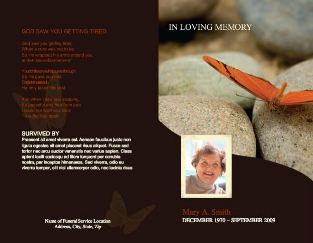 Funeral Program Template 2 - Back and Front Covers